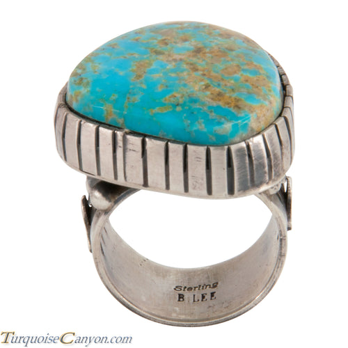 Navajo Native American Kingman Turquoise Ring Size 9 3/4 by Lee SKU228030