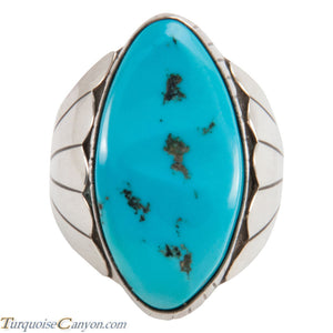 Navajo Native American Sleeping Beauty Turquoise Ring Size 11 1/2 SKU228033