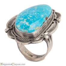 Load image into Gallery viewer, Navajo Native American Kingman Turquoise Ring Size 7 3/4 by Tom SKU228040
