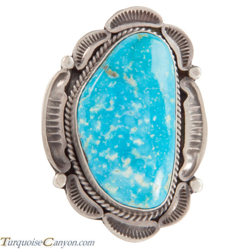 Navajo Native American Kingman Turquoise Ring Size 7 3/4 by Tom SKU228040