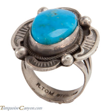 Load image into Gallery viewer, Navajo Native American Kingman Turquoise Ring Size 7 by Tom SKU228041