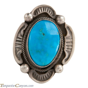 Navajo Native American Kingman Turquoise Ring Size 7 by Tom SKU228041