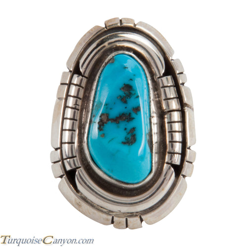 Navajo Native American Sleeping Beauty Turquoise Ring Size 7 1/4 SKU228043