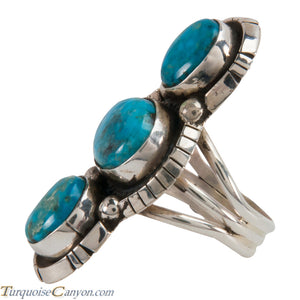 Navajo Native American Kingman Turquoise Ring Size 8 1/2 by Lee SKU228048