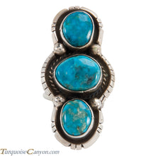 Load image into Gallery viewer, Navajo Native American Kingman Turquoise Ring Size 8 1/2 by Lee SKU228048