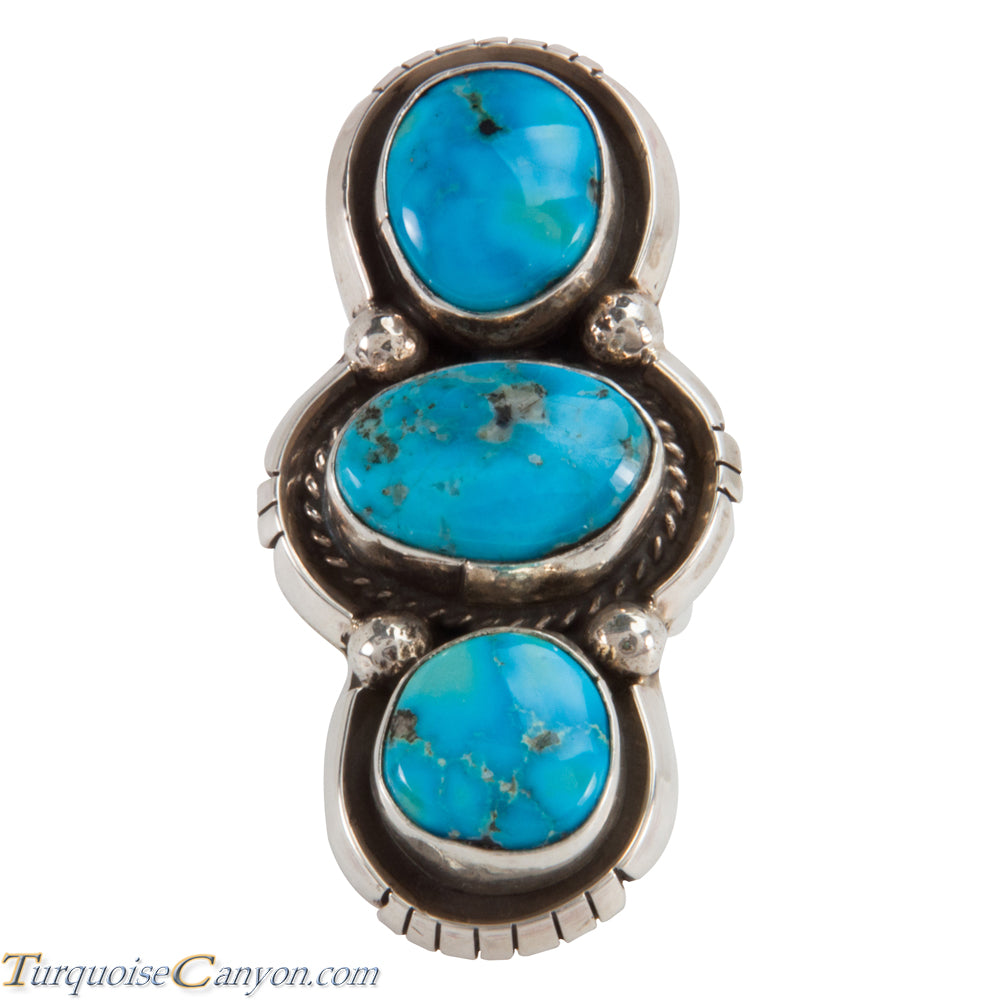 Navajo Native American Kingman Turquoise Ring Size 6 by Betta Lee SKU228051