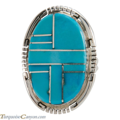 Navajo Native American Sleeping Beauty Turquoise Ring Size 4 3/4 SKU228064