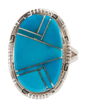 Load image into Gallery viewer, Navajo Native American Sleeping Beauty Turquoise Ring Size 8 3/4 SKU228066