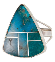 Load image into Gallery viewer, Navajo Native American Turquoise Mountain Turquoise Ring Size 8 3/4 SKU228069