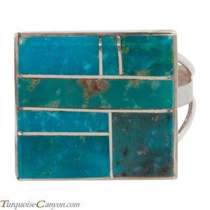 Navajo Native American Turquoise Mountain Turquoise Ring Size 10 SKU228073
