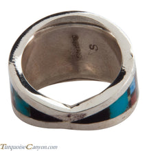 Load image into Gallery viewer, Navajo Native American Peyote Style Turquoise Ring Size 7 1/2 SKU228128