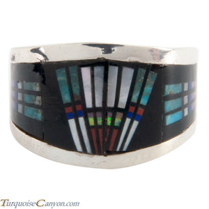 Navajo Native American Peyote Style Turquoise Ring Size 7 1/2 SKU228128