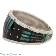 Load image into Gallery viewer, Navajo Native American Peyote Style Turquoise Ring Size 12 by Smith SKU228130