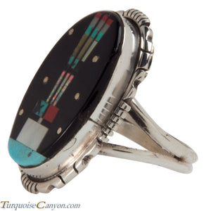 Navajo Native American Turquoise Yei Ring Size 4 3/4 by Skeets SKU228139