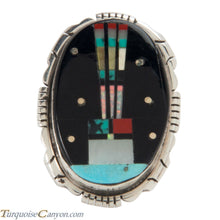 Load image into Gallery viewer, Navajo Native American Turquoise Yei Ring Size 4 3/4 by Skeets SKU228139