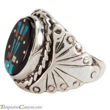 Load image into Gallery viewer, Navajo Native American Turquoise Inlay Yei Ring Size 8 1/2 SKU228155
