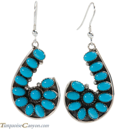 Navajo Native American Sleeping Beauty Turquoise Earrings by Tom SKU228159