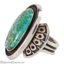 Load image into Gallery viewer, Navajo Carico Lake Turquoise Ring Size 11 by Terry Martinez SKU228221