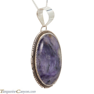 Navajo Native American Charoite Pendant Necklace by Herman Lee SKU228283