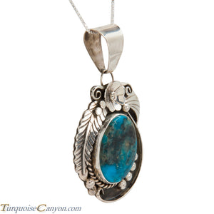 Navajo Native American Kingman Turquoise Pendant Necklace by Lee SKU228304