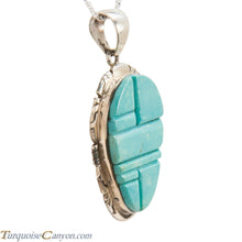 Load image into Gallery viewer, Navajo Native American Turquoise Pendant Necklace by Pete Skeets SKU228319