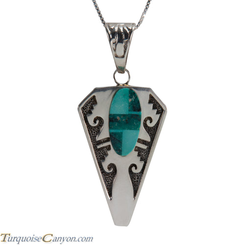 Navajo Native American Turquoise Pendant Necklace by Robert Kelly SKU228339