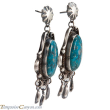 Load image into Gallery viewer, Navajo Native American Kingman Turquoise Earrings by Betta Lee SKU228415