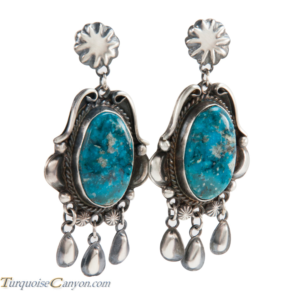 Navajo Native American Kingman Turquoise Earrings by Betta Lee SKU228415