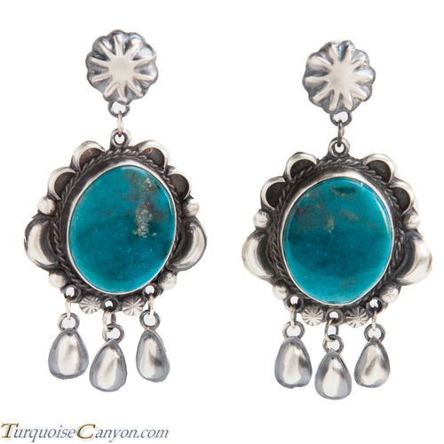Navajo Native American Kingman Turquoise Earrings by Betta Lee SKU228419