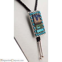 Load image into Gallery viewer, Navajo Native American Turquoise Bolo Tie by Etcitty and James SKU228424