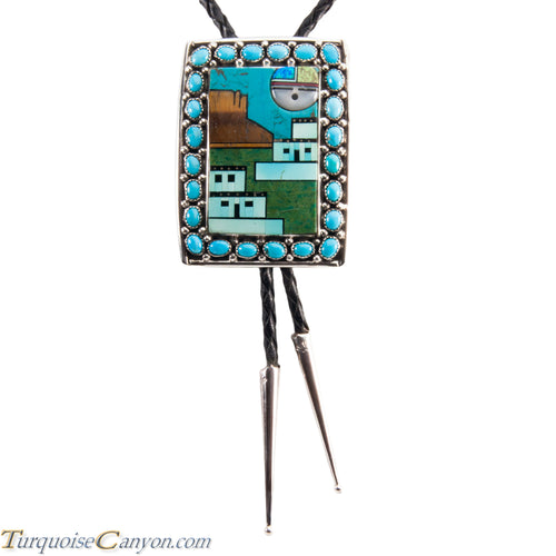 Navajo Native American Turquoise Bolo Tie by Etcitty and James SKU228426