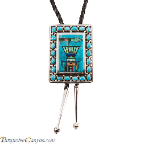 Navajo Native American Turquoise Bolo Tie by Etcitty and James SKU228427