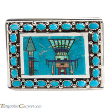 Load image into Gallery viewer, Navajo Native American Turquoise Belt Buckle by Etcitty and James SKU228428