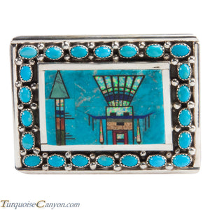 Navajo Native American Turquoise Belt Buckle by Etcitty and James SKU228428