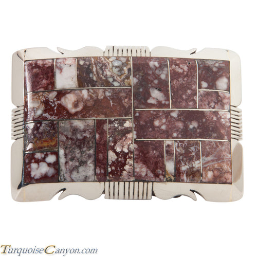 Navajo Native American Wild Horse Magnesite Belt Buckle SKU228429