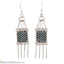 Load image into Gallery viewer, Zuni Native American Petit Point Turquoise Earrings by Amesoli SKU228490