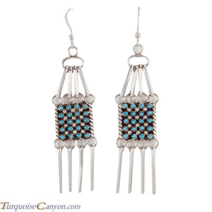 Zuni Native American Petit Point Turquoise Earrings by Amesoli SKU228490
