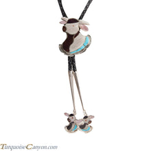 Load image into Gallery viewer, Zuni Native American Turquoise Steer Bolo Tie by Dean Qualo SKU228519