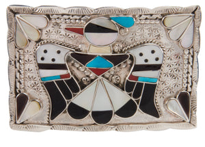 Zuni Native American Turquoise Thunderbird Belt Buckle by Shack SKU228523