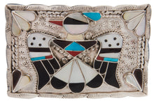 Load image into Gallery viewer, Zuni Native American Turquoise Thunderbird Belt Buckle by Shack SKU228523