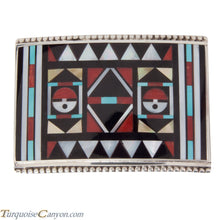 Load image into Gallery viewer, Zuni Native American Turquoise Inlay Belt Buckle by Vacit SKU228524