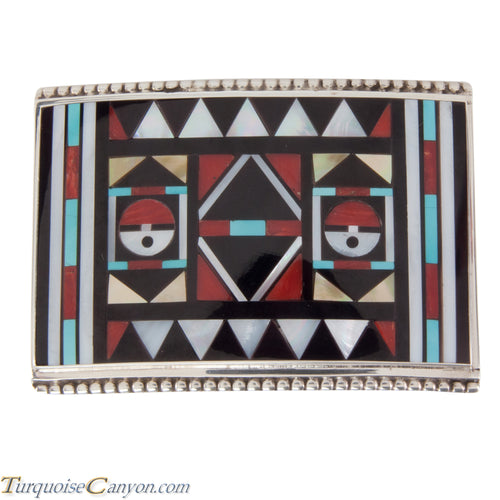 Zuni Native American Turquoise Inlay Belt Buckle by Vacit SKU228524