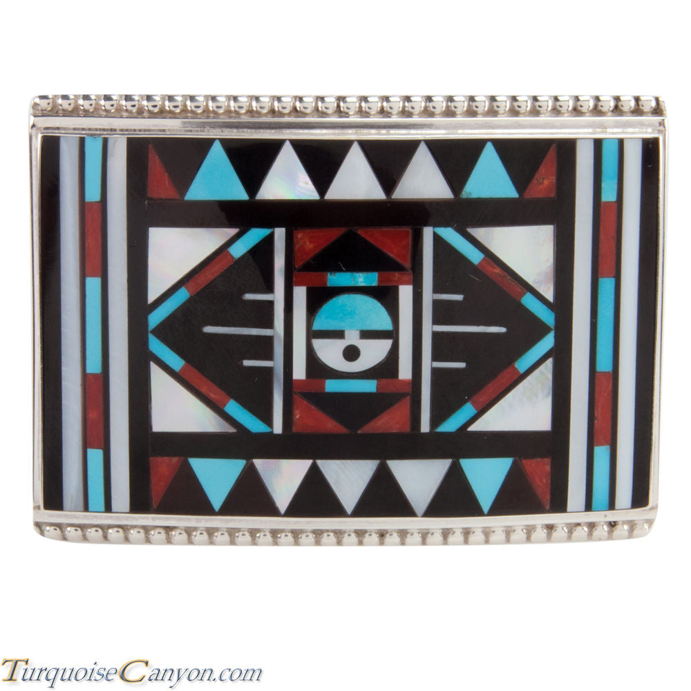 Zuni Native American Turquoise Inlay Belt Buckle by Vacit SKU228525