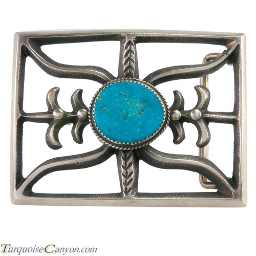 Navajo Native American Turquoise Belt Buckle by Martha Cayatinto SKU228529