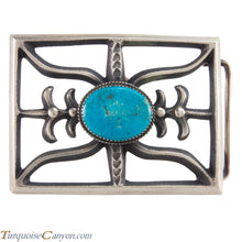Load image into Gallery viewer, Navajo Native American Turquoise Belt Buckle by Martha Cayatinto SKU228530