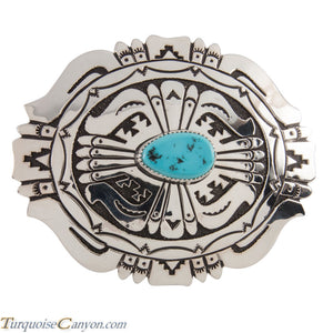 Navajo Native American Turquoise Belt Buckle by Richard Singer SKU228532