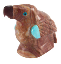Load image into Gallery viewer, Zuni Native American Picture Jasper Parrot Fetish by Edison Bobelu SKU228604