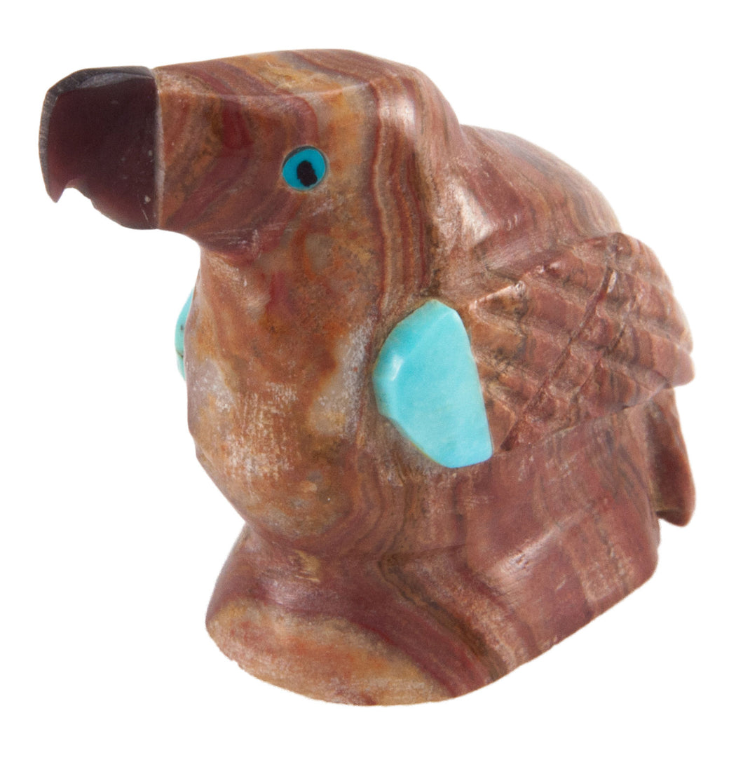 Zuni Native American Picture Jasper Parrot Fetish by Edison Bobelu SKU228604