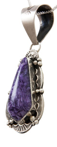 Navajo Native American Charoite Pendant Necklace by Spencer SKU228640