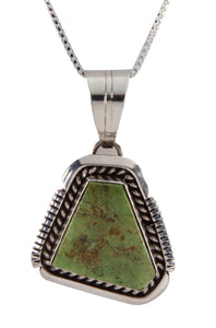 Navajo Native American Gaspeite Pendant Necklace by Eugene Belone SKU228641